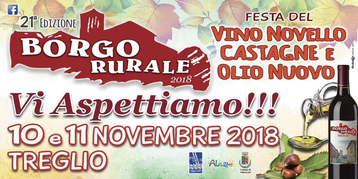 BORGO RURALE 2018 – FESTA DEL VINO NOVELLO, DELLE CASTAGNE E DELL'OLIO NUOVO